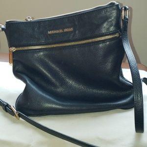 Michael Kors Black Leather Crossbody Bag